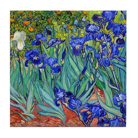 Van Gogh - Irises 1889 Tile Coaster