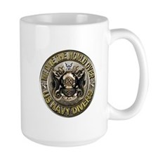 US Navy Diver Metal Mug