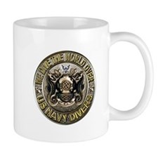 US Navy Diver Metal Small Mug