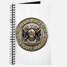 US Navy Diver Metal Journal
