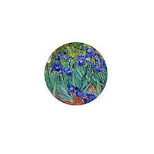 Van Gogh - Irises 1889 Mini Button