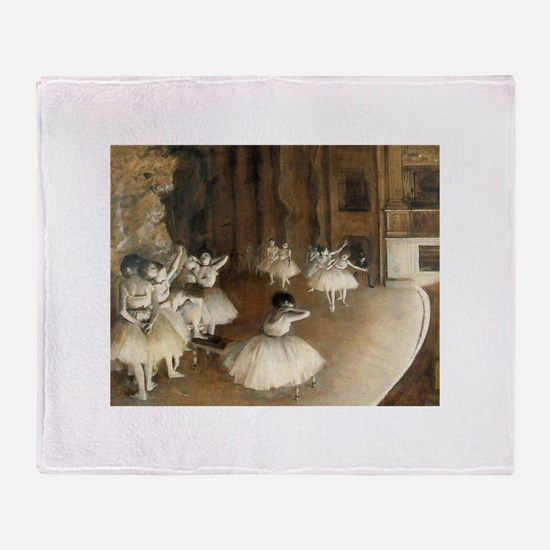 Rehearsal Ballet Onstage Throw Blanket