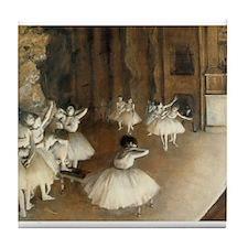 Rehearsal Ballet Onstage Tile Coaster