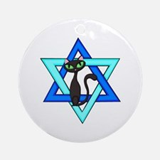 Jewish Cat Stars Ornament (Round)