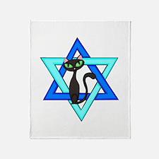 Jewish Cat Stars Throw Blanket