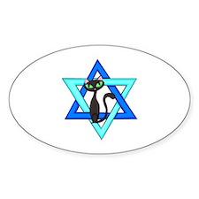 Jewish Cat Stars Decal