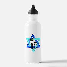 Jewish Cat Stars Water Bottle