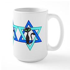 Jewish Cat Stars Mug