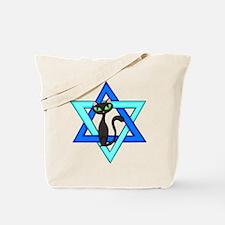 Jewish Cat Stars Tote Bag