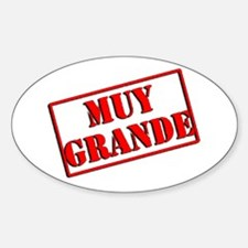 Muy Grande Oval Decal