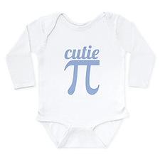 Cutie Pi Blue Long Sleeve Infant Bodysuit