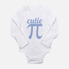 Cutie Pi Blue Long Sleeve Infant Bodysuit