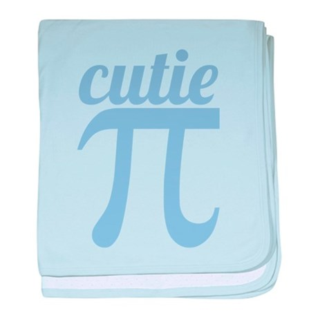 Cutie Pi Blue baby blanket