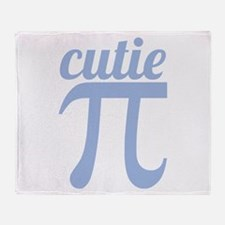 Cutie Pi Blue Throw Blanket