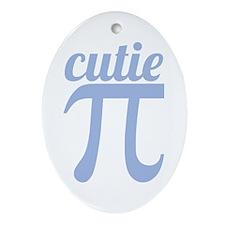 Cutie Pi Blue Ornament (Oval)