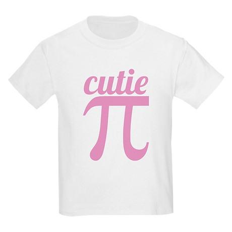 Cutie Pi Pink Kids Light T-Shirt
