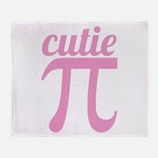 Cutie Pi Pink Throw Blanket