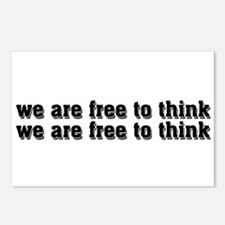 Free To Think Postcards (Package of 8)