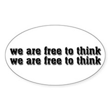 Free To Think Decal