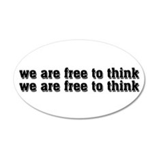 Free To Think 22x14 Oval Wall Peel