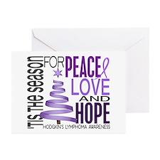 Christmas 1 Hodgkin's Lymphoma Greeting Cards (Pk