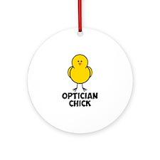 Optician Chick Ornament (Round)