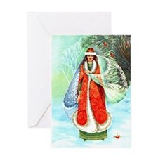 Winter Enchantress Greeting Card