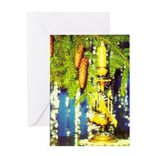 Festive Candle Greeting Card