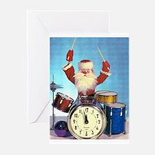 Santa Claus Drummer Greeting Cards (Pk of 10)