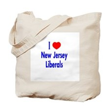 I Love New Jersey Liberals Tote Bag