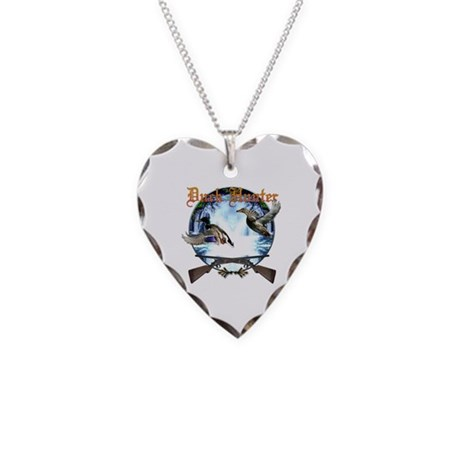Duck hunter 2 Necklace Heart Charm