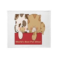 Best Pet Sitter Throw Blanket