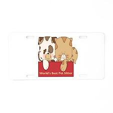 Best Pet Sitter Aluminum License Plate