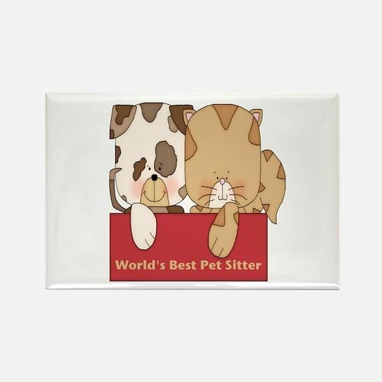 Best Pet Sitter Rectangle Magnet