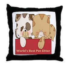 Best Pet Sitter Throw Pillow
