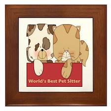 Best Pet Sitter Framed Tile
