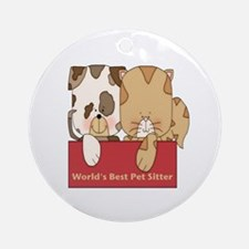 Best Pet Sitter Ornament (Round)