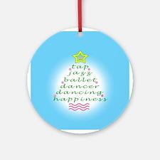 Aqua Dancers Christmas Tree Ornament (Round)