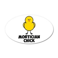 Mortician Chick 22x14 Oval Wall Peel