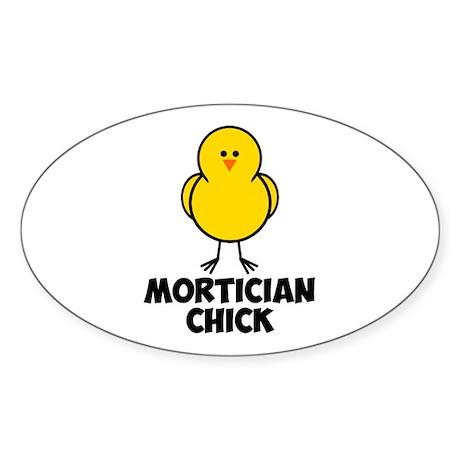 Mortician Chick Sticker (Oval)