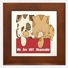 Pets Not Disposable Framed Tile