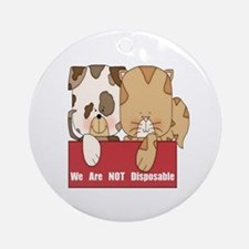 Pets Not Disposable Ornament (Round)