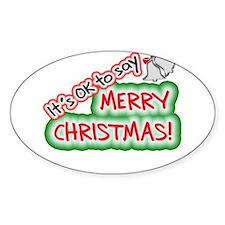 Say Merry Christmas Decal