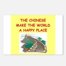 happy chinese Postcards (Package of 8)
