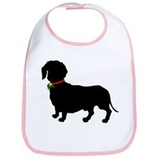 Christmas or Holiday Dachshund Silhouette Bib