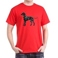 Christmas or Holiday Dalmatian Silhouette T-Shirt