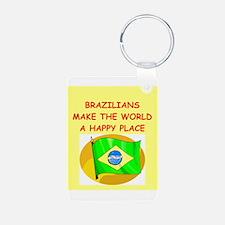 happy brazilians Keychains