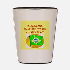 happy brazilians Shot Glass