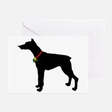 Christmas or Holiday Doberman Pinscher Silhouette