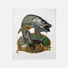 Musky Hunter 9 Throw Blanket